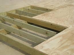 Floor Joist Spans For Decks by Laminate Floor Joist Images Home Flooring Design
