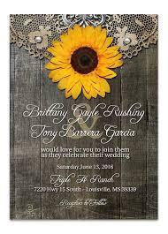 RusticSunflowerWeddingInvitation Odd Lot Paperie Sunflower Wedding Invitations Rustic