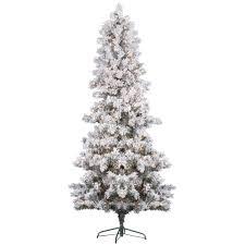 Vickerman Slim Flocked Christmas Tree by Interior Design Flocked Christmas Trees Decorations Flocked