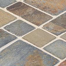 Jeffrey Court Mosaic Tile by Jeffrey Court Rust Block Medley 12 In X 12 In X 8 Mm Slate