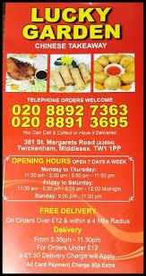 Lucky Garden Twickenham Restaurant Reviews Phone Number