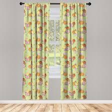 gardine fensterbehandlungen 2 panel set für wohnzimmer schlafzimmer dekor abakuhaus shabby chic vintage blumen kaufen otto