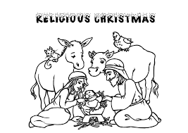 Free Printable Christmas Coloring Pages Religious Inside