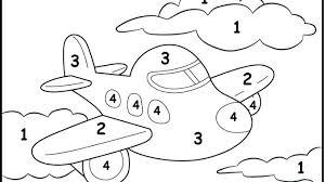 Color Number Worksheets Kindergarten Free Kids Coloring By