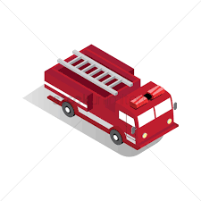 Isometric Fire Truck Vector Image - 1608579 | StockUnlimited