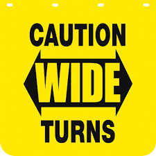 100 How Wide Is A Semi Truck Buyers Products Caution Turns Polymer Mud Flaps