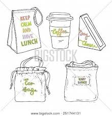 Lunch Bag Set Eco Vector Photo Free Trial