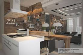 Architecture Small Rustic Modern Studio Apartment Kitchen Living And Dining Room Interior Lighting Decorating Ideas