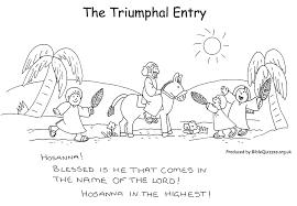 The Triumphal Entry Coloring Page AZ Pages