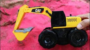 Fine Toys Construction Vehicles Under Sand Pink Colour. Excavator ...