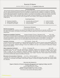 Maintenance Tech Resume Sample Elegant Ultrasound Field Service Technician Examples