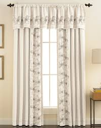 Valances Curtains For Living Room by Furniture Modern Home With Long White Floral Pattern Fabric