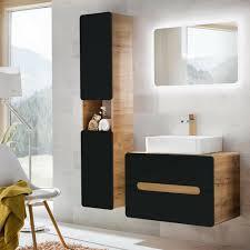 badezimmer badmöbel komplettset anthrazit keramik waschtisch