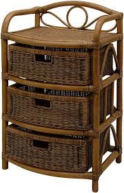 korb outlet rattan kommode mit 3 schubfächern vintage rattanregal mit körben braun bad regal aus rattan badregal dunkel
