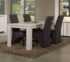 table de salle a manger moderne table ronde extensible blanche