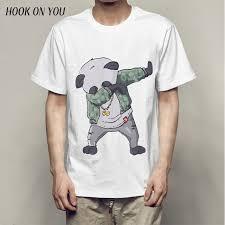 Swag Dabbing Unicorn Panda Son Goku Dab T Shirt Men Summer