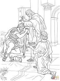 David Crowned King Coloring Page