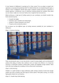 100 Warehouses Melbourne Warehouse Racking Available In Melbourne By Readyrack Issuu