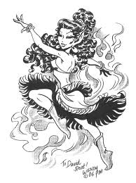 Wendy Pini Leetah Dancing Sketch Comic Art