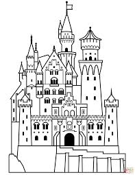 Large Size Of Coloring Pagescoloring Page Castle Disney Bloomyliahona Pages Neuschwanstein