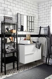 vilto regal schwarz 46x150 cm regale fürs badezimmer