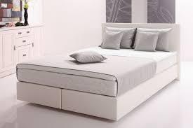 funktionspolsterbett mars boxspringbett doppelbett polsterbett schlafzimmer 120 x 200 cm weiß grau