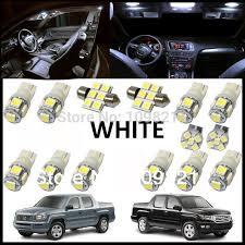 12pcs set white led lights interior package kit license plate