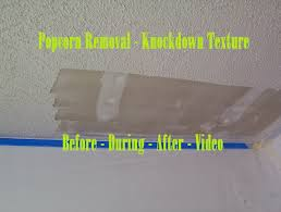 Homax Ceiling Texture Scraper by Popcorn Removal Knockdown Texture Before During After Video