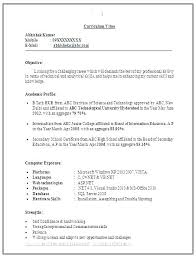 Resume Samples For Freshers Pdf Engineers With Free Format