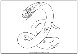 Snake Colouring Pages