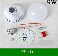 diy 9w 2835smd led bulb kit housing component parts plastic shell