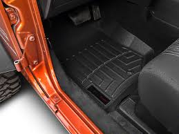 Quadratec Floor Mats Vs Weathertech by 2007 2018 Jeep Wrangler Floor Mats Extremeterrain Free Shipping
