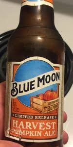 Ichabod Pumpkin Beer Calories by Blue Moon Harvest Moon Pumpkin Ale Coors Brewing Company Molson