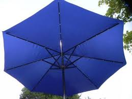 Solar Led Patio Umbrella by 8 Best Blue Umbrellas Images On Pinterest Patio Umbrellas Solar