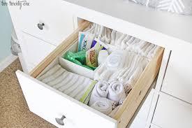 Hemnes 3 Drawer Dresser As Changing Table by Nursery Dresser Organization
