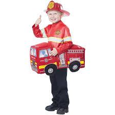 100 Fire Truck Halloween Costume Truck Hero Rider Child 1 Size Walmartcom
