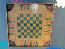 Antique Combination Star Game Board Carrom Checkers 24 1 2 Square