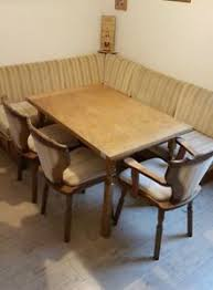 details zu esszimmer tisch 3 stühle eckbank mit federkern holz retro vintage