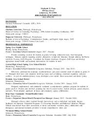 Mental Health Counselor Resume Licensed Professional Resumes Samples