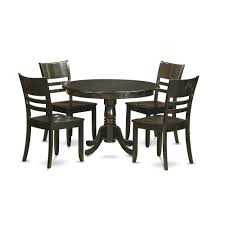 5 PC Small Kitchen Table And Chairs Set-Dining Table And 4 Dinette Chairs  By East West Furniture Hever Ding Table With 5 Chairs Bench Chelsea 5piece Round Package Aqua Drewing And Chair Set By Benchcraft Ashley At Royal Fniture Trudell Upholstered Side Signature Design Dunk Bright Lawson Piece Includes 4 Liberty Darvin Barzini Black Leatherette Coaster Value City Pc Kitchen Set A In Buttermilk Cherry East West The District Leaf Intercon Wayside Grindleburg Vesper Round Marble Ding Table Piece Set Brnan Amazoncom Tangkula Pcs Modern Tempered