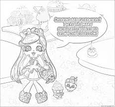 Shopkins Everywhere Sketch Coloring Pages