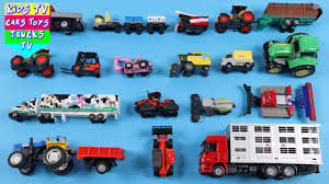 100 Toy Farm Trucks And Trailers Learning Vehicles For Kids Children Babies Toddlers With Tractor Van Harvester Trailer Truck