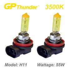gp thunder 3500k gold xenon halogen light bulbs pair h11 55w