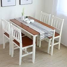 essgruppe mit 1 tisch 4 stühle holz tischgruppe e