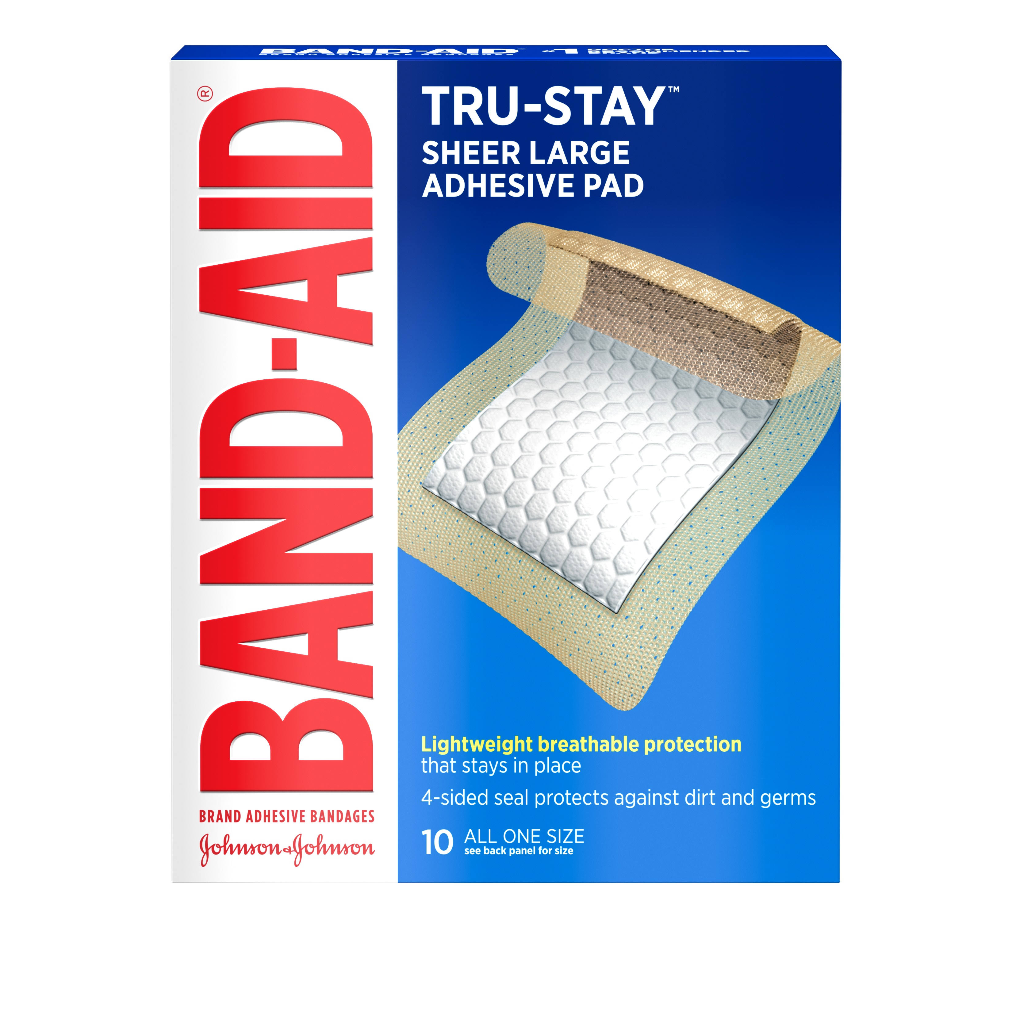 Band-Aid Large Adhesive Pads - 10ct
