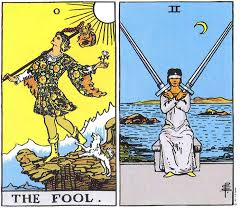 thoth deck the fool the fool and the 2 of swords empowerment with nadine