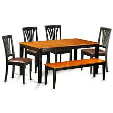 100 Cherry Table And 4 Chairs NIAV6BCH 6 PC Kitchen SetDining And Plus A Bench