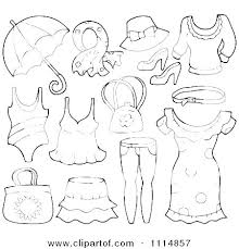 Clothing Coloring Pages Kids Clothes Of Winter Coat Native Free Shirts R Sheets