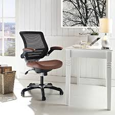 amazon com modway edge mesh back and tan vinyl seat office chair