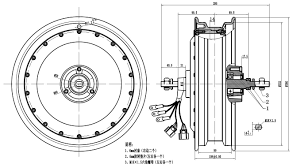 13inch Scooter Motor Drawing